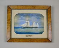 Antique Watercolour of Sailing Ship 'the Hawk' (2 of 6)