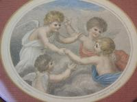 Hand Coloured Stipple Engraving of Putti Bartolozzi (2 of 5)