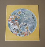 Antique Japanese Watercolour Painting Finches in Snow Yakata Ransui (2 of 5)