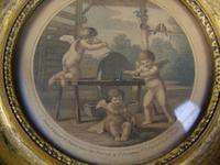 Antique Pair of Hand Coloured Engravings Bartolozzi (7 of 7)