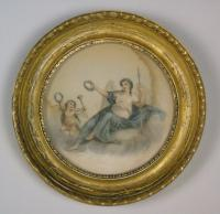 Antique Pair of Hand Coloured Engravings Bartolozzi (3 of 7)