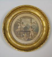 Antique Pair of Hand Coloured Engravings Bartolozzi (5 of 7)
