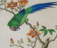 Antique Chinese Pith Painting Birds Set of Three (5 of 8)
