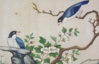 Antique Chinese Pith Painting Birds Set of Three (8 of 8)