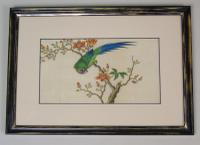 Antique Chinese Pith Painting Birds Set of Three (4 of 8)
