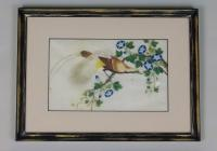 Antique Chinese Pith Painting Birds Set of Three (2 of 8)