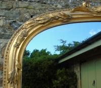 Grand 19th Century Arched Gilt Mirror Floor Standing (5 of 7)
