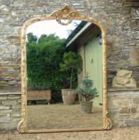 Grand 19th Century Arched Gilt Mirror Floor Standing (2 of 7)