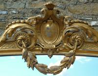 Grand 19th Century Arched Gilt Mirror Floor Standing (4 of 7)