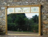 Fabulous Large Regency Overmantel Mirror Verre Eglomise (2 of 7)