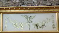 Fabulous Large Regency Overmantel Mirror Verre Eglomise (5 of 7)
