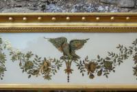 Fabulous Large Regency Overmantel Mirror Verre Eglomise (4 of 7)
