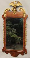 Antique Mahogany & Parcel Gilt Mirror Waring & Gillows 19th Century