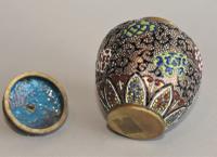 Antique Japanese Enamelled Vase Meiji (3 of 8)