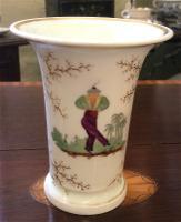 Rare Chinaman Pattern Swansea Spill Vase c.1816