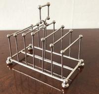 Dresser Design Silver Toast Rack, Birmingham 1905