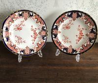 Pair of Pattern 4542 Royal Crown Derby Plates 1899