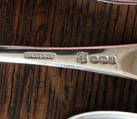 Set of Cooper Brothers Silver Dessert Spoons 1921 (4 of 4)