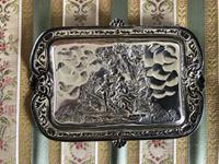 Green Man Silver Card Tray c.1900 (5 of 5)