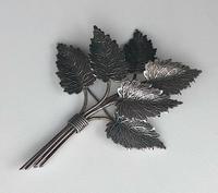 1945 Charles Horner Silver Leaf Brooch (2 of 3)
