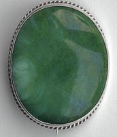 Charles Horner Green Silver Ruskin Brooch, 1918