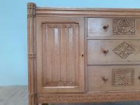 Bold & Impressive Oak Sideboard c.1920 (5 of 9)