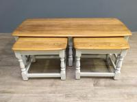Elm Ercol Nest of Three Tables c.1790 (2 of 6)