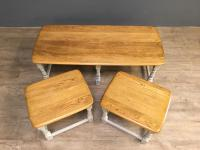 Elm Ercol Nest of Three Tables c.1790 (3 of 6)
