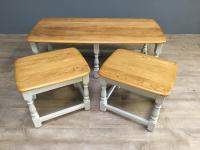 Elm Ercol Nest of Three Tables c.1790 (6 of 6)