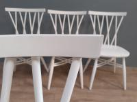 Set of 4 White Painted Candlestick Chairs by Ercol (7 of 7)