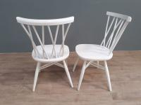 Set of 4 White Painted Candlestick Chairs by Ercol (2 of 7)