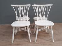Set of 4 White Painted Candlestick Chairs by Ercol (4 of 7)