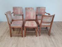 Limed Oak Extending Table & 6 Chairs by Heals c.1930 (3 of 9)