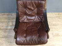1960s Norweigan Leather & Hardwood 'Hunter' Armchair (2 of 8)