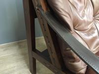 1960s Norweigan Leather & Hardwood 'Hunter' Armchair (3 of 8)