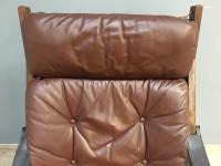 1960s Norweigan Leather & Hardwood 'Hunter' Armchair (5 of 8)