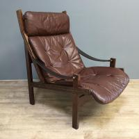 1960s Norweigan Leather & Hardwood 'Hunter' Armchair (8 of 8)