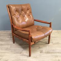 1960s Model Lacko Leather Chair (2 of 6)