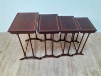 Edwardian Nest of 4 Inlaid Mahogany Tables (4 of 5)