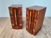 Pair of Walnut Art Deco Bedside Chests (2 of 9)