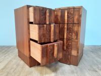 Pair of Walnut Art Deco Bedside Chests (3 of 9)