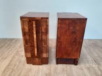 Pair of Walnut Art Deco Bedside Chests (7 of 9)