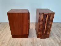 Pair of Walnut Art Deco Bedside Chests (8 of 9)