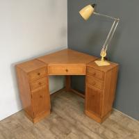 Heal & Son Oak Corner Desk (2 of 10)