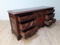 Moulded Front Victorian Oak Dresser Base circa 1860 (4 of 7)