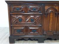 Moulded Front Victorian Oak Dresser Base circa 1860 (5 of 7)