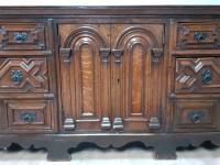 Moulded Front Victorian Oak Dresser Base circa 1860 (6 of 7)
