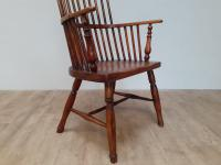 Mixed Wood 19th Century Comb Back Windsor Chair (4 of 5)
