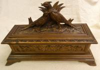Black Forest Carved Glove Box ( with Gloves )