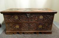 Carved Indian Trunk c.1890